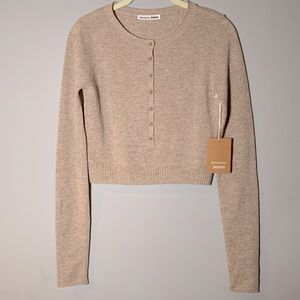 NWT Reformation Cashmere Crop Sweater XS